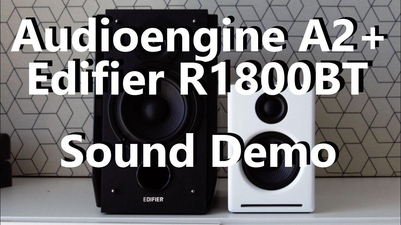 Audioengine A2+ vs Edifier R1800BT  ||  Sound Demo w/ Bass Test