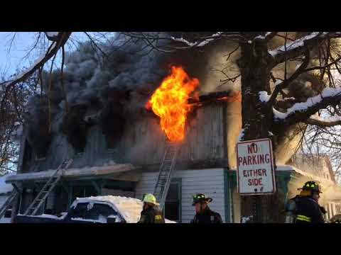 *On Scene* Hudson Falls Fire, Working Structure Fire, 12-31-17