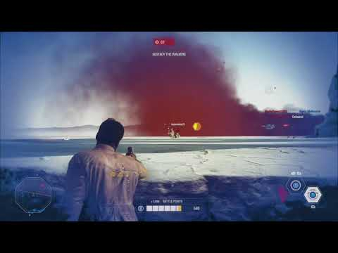 44 Finn kill streak on NEW map Crait! Star Wars Battlefront: 2 (no commentary)