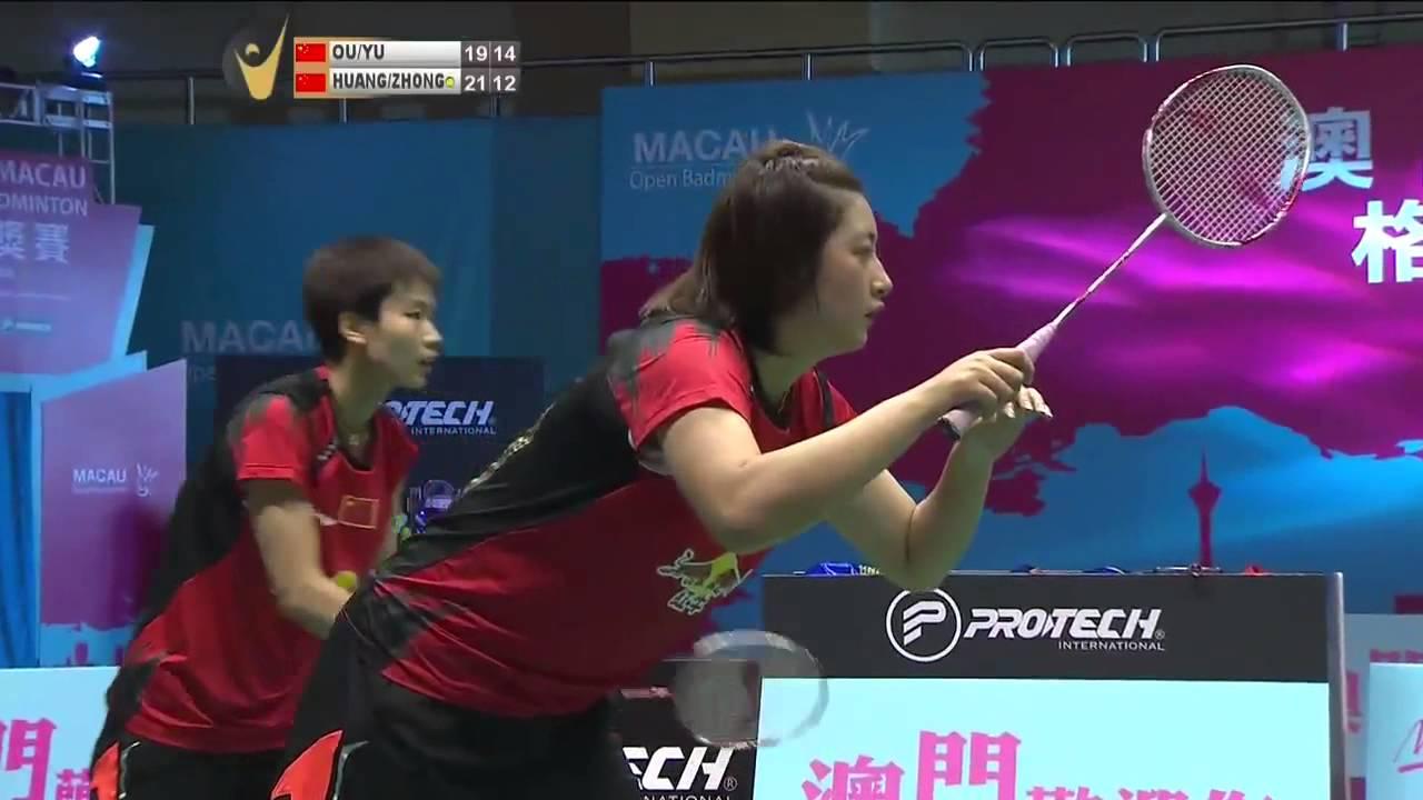 F 2014 Macau Open Ou Dongni Yu Xiaohan vs Huang Yaqiong Zhong