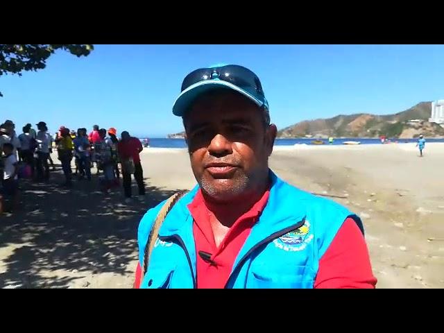 Pelea entre vendedores informales venezolanos en El Rodadero