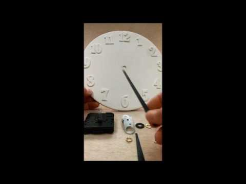 How To Emble Clock Mechanism Hands Wall 5276