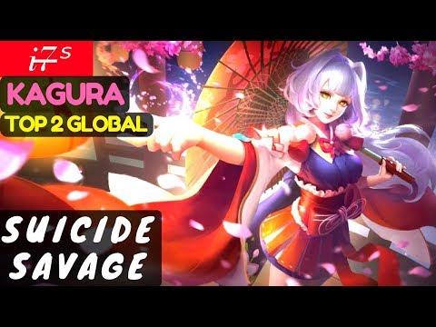 Suicide Savage [Top 2 Global Kagura] | i7̶ˢ  Kagura Gameplay And Build #1 Mobile Legends