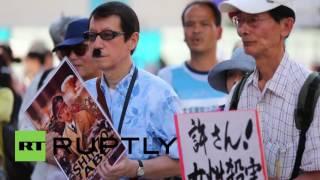Japan: Hundreds rally against US military ahead of Marine's arraignment for rape