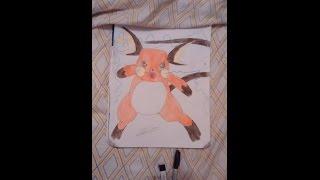 Raichu Drawing(POKEMON)