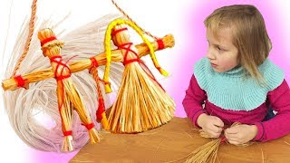 Как сделать куклу-оберег из лыка   МАСТЕР-КЛАСС