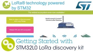 stm32l0 lora discovery kit getting started