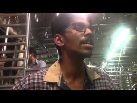 saurabh nimkar singing in local train for charity youtube