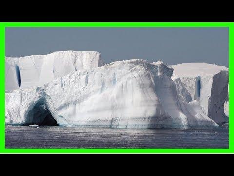 Antarctic ice shelf being eaten away by sea