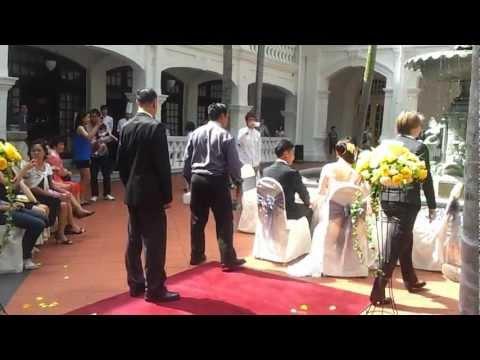 Creative Wedding Ceremony (Singapore Raffles Hotel)