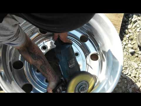 DIY how to Polish aluminum wheels Tony Metal Art