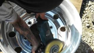 DIY how to Polish aluminum wheels Tony Metal Art