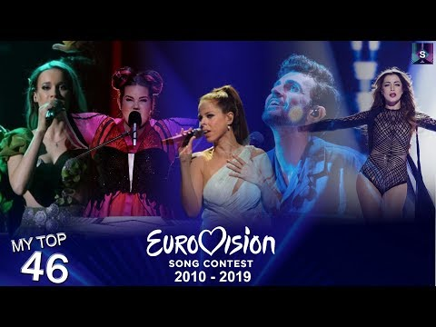 My Top 46 Countries In Eurovision (from 2010-2019) [Including 🇧🇦🇸🇰🇭🇺🇲🇪🇹🇷]