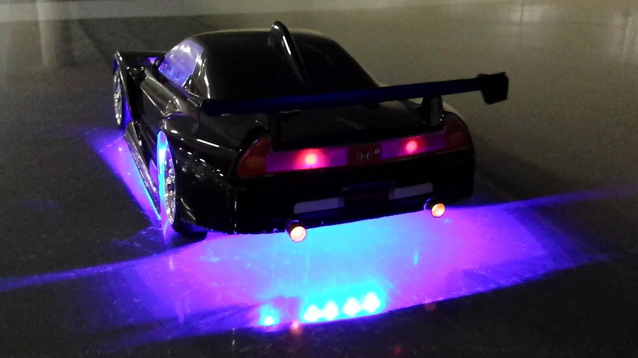 Drift rc honda nsx met led verlichting - YouTube