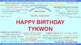 Tykwon   Languages Idiomas - Happy Birthday