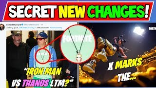 *NEW* IRON MAN COMING TO FORTNITE! + Fortnite Map Changes X Marks The...
