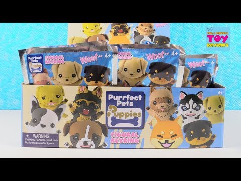 Purrfect Pets Puppies Figural Keyring Blind Bag Full Box Opening | PSToyReviews