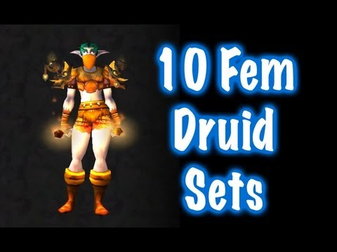 10 Sexy Female Druid Transmog Sets #1 (World of Warcraft)