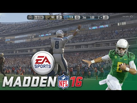 Madden NFL 16: The Legend of Marcus Mariota! (Titans vs. Saints - Dan vs. Tyler)