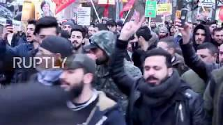 Germany: Erdogan's picture burned at Hamburg protest against Afrin offensive