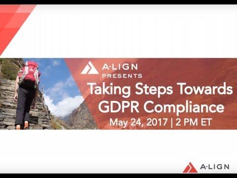 Taking Steps Towards GDPR Compliance