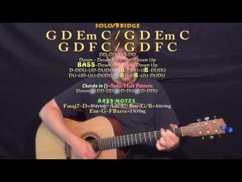 Up & Up (Coldplay) Guitar Lesson Chord Chart - G D Em C F
