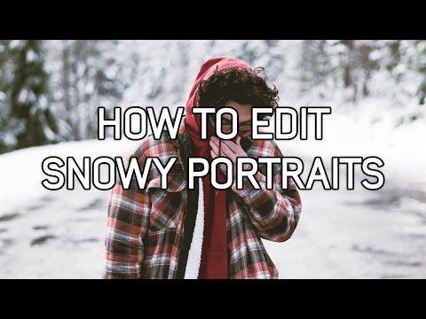 Lightroom: How to edit snow portraits