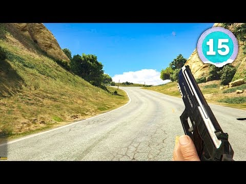 FIRST TIME PLAYING IN FIRST PERSON - Grand Theft Auto 5 - Part 15