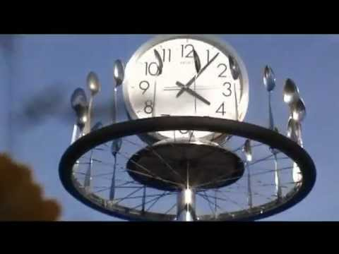 Remove Tire From Rim >> Windmill made of spoons and a bicycle wheel - YouTube