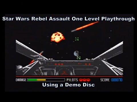 Megadrive Mega-CD Demo Disc Star Wars Rebel Assault One Level Playthrough :D  
