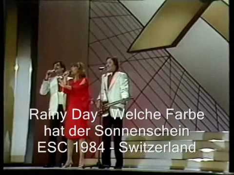 rainy day welche farbe hat der sonnenschein esc 1984 switzerland youtube. Black Bedroom Furniture Sets. Home Design Ideas
