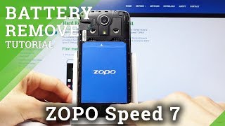 How to Remove Battery in ZOPO Speed 7 - Open Back Cover
