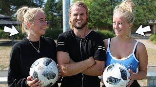 I dag har jeg søstrene Dahl med. Hvor gode er de til fodbold? ▻Rebe...