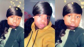 Slick slayed ponytail 😍 ft maxine hair