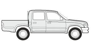 How to Draw a Toyota Hilux Double Cab / Как нарисовать Toyota Hilux Double Cab