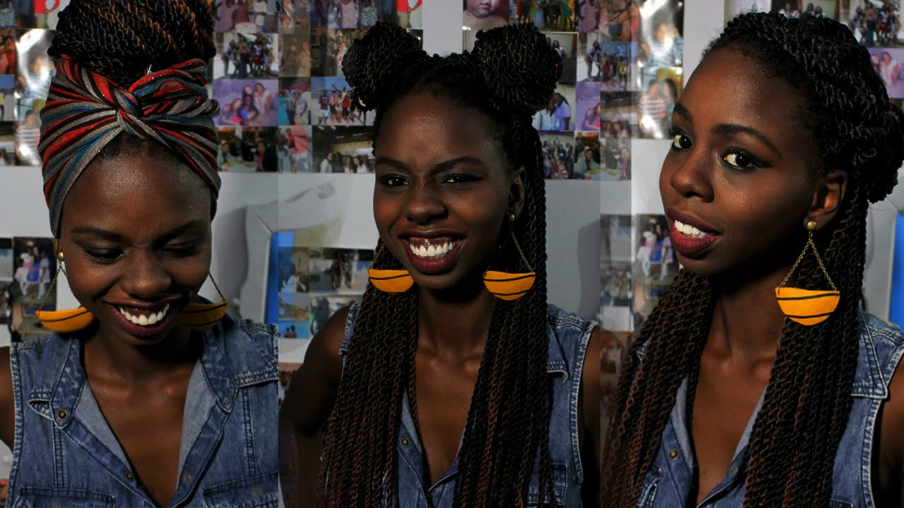 Penteados Com Tran 231 As Box Braids Twist Senegales
