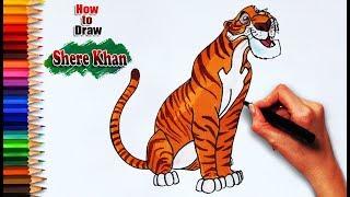 shere khan drawing lesson