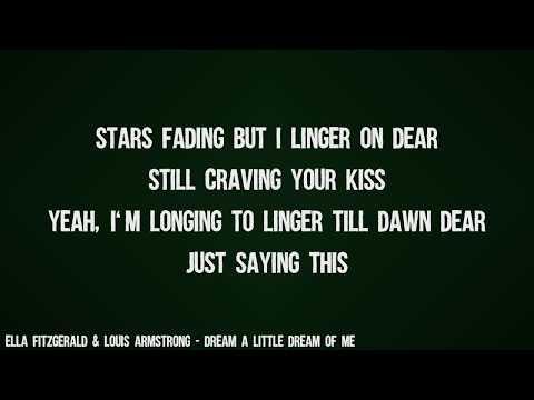 Ella Fitzgerald & Louis Armstrong - Dream A Little Dream Of Me (Lyrics Video)