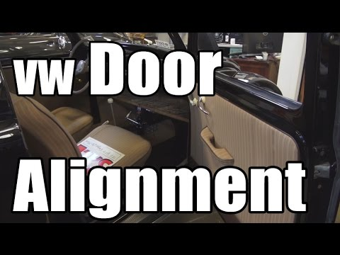 Classic VW BuGs How to Vintage Beetle Door Alignment Open Close Correctly