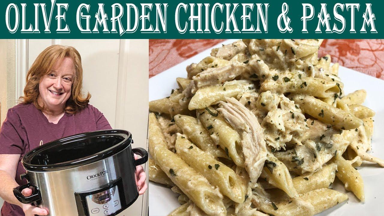 Crockpot Olive Garden Chicken Pasta Easy Slow Cooker Dinner Idea Youtube
