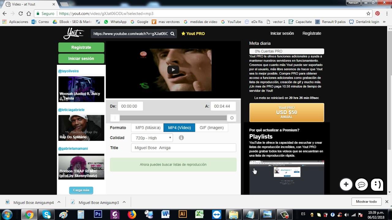 descargar audio y videos de youtube