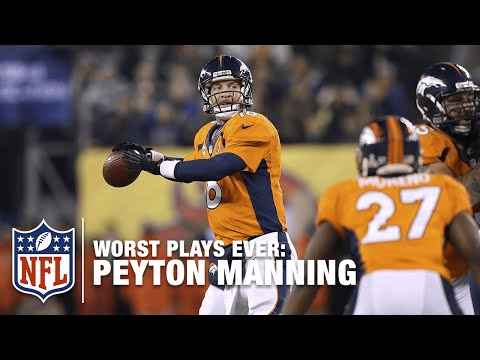 Super Bowl Safety: Over The Head Of Peyton!   NFL's Worst Plays Ever