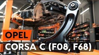 Montering af Bærearm venstre og højre OPEL CORSA: videovejledning