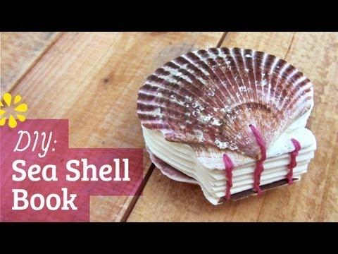 DIY Sea Shell Book | Coptic Stitch Bookbinding | Sea Lemon