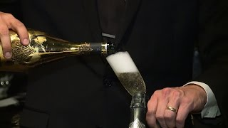 Tasting a $150 glass of champagne at Nick & Sam's Dallas