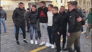 Москва. Сборная Аргентины посетила ГУМ и Красную площадь
