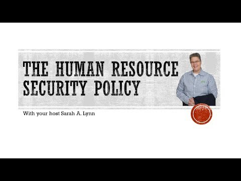 The Human Resource Security Policy
