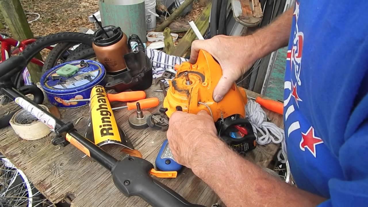 Poulan pro 25cc trimmer - YouTube