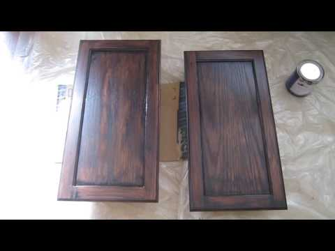 How to stain a cabinet with General Finishes Gel Stain from decorsauce.com
