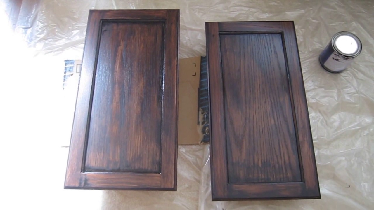 How To Stain A Cabinet With General Finishes Gel From Decorsauce